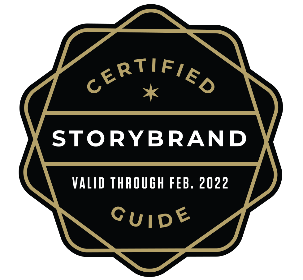 Certified Storybrand Guide Badge for Tim Yates